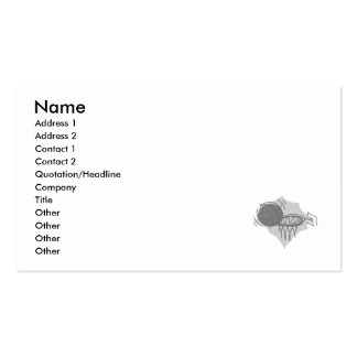 ball and basket gray business card