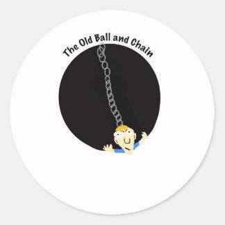 Ball and Chain Classic Round Sticker