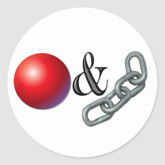 Ball And Chain Classic Round Sticker