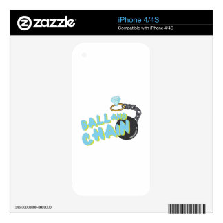 Ball And Chain Decals For The iPhone 4