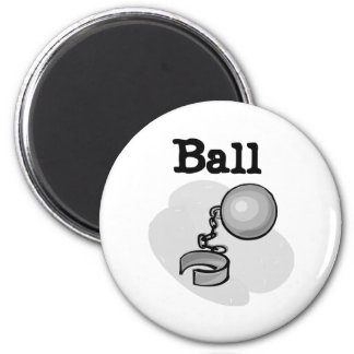 Ball and Chain Groom 2 Inch Round Magnet