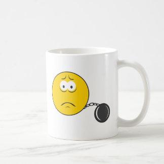 Ball and Chain Smiley Face Coffee Mug