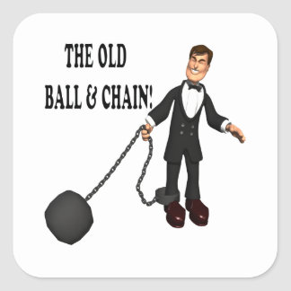 Ball And Chain Square Sticker