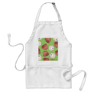 Ball and Glove collage Adult Apron