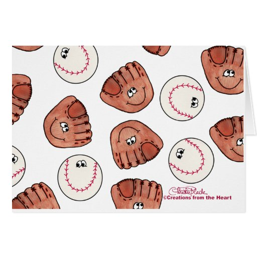 Ball and Glove collage Greeting Card
