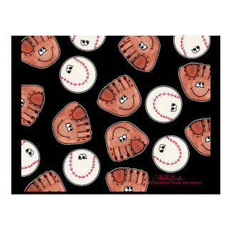 Ball and Glove collage Postcard