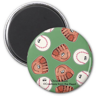 Ball and Glove collage Refrigerator Magnets