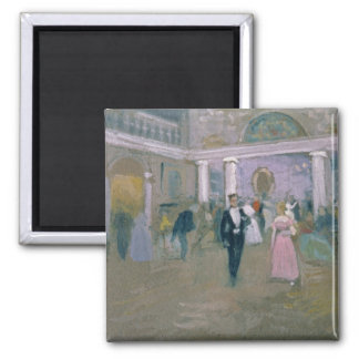 Ball at Larins 2 Inch Square Magnet
