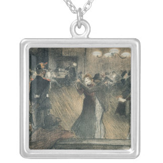 Ball at the Barriere Square Pendant Necklace