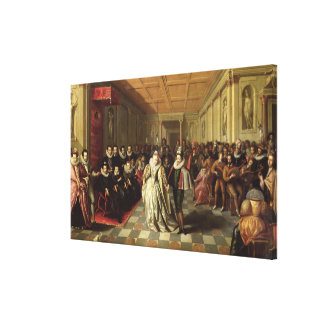 Ball at the Court of Henri III Canvas Print