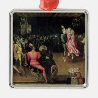 Ball at the Court of Valois Metal Ornament