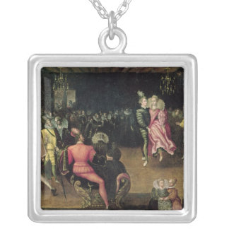 Ball at the Court of Valois Silver Plated Necklace