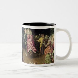 Ball at the Court of Valois Two-Tone Coffee Mug
