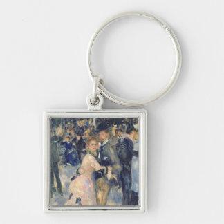Ball at the Moulin de la Galette, 1876 Silver-Colored Square Keychain