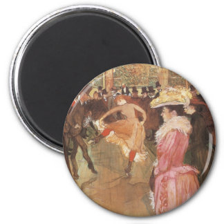 Ball at the Moulin Rouge by Toulouse Lautrec Refrigerator Magnets