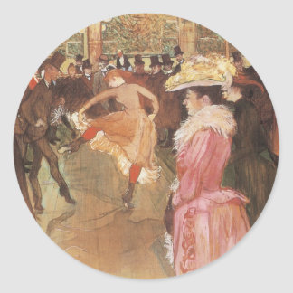 Ball at the Moulin Rouge by Toulouse Lautrec Stickers
