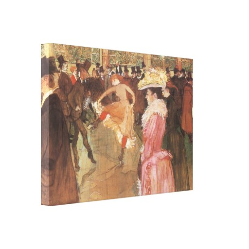 """Ball at the """"Nightclub"""" by Toulouse Lautrec Canvas Print"""