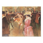 """Ball at the """"Nightclub"""" by Toulouse Lautrec 4.25"""" X 5.5"""" Invitation Card"""
