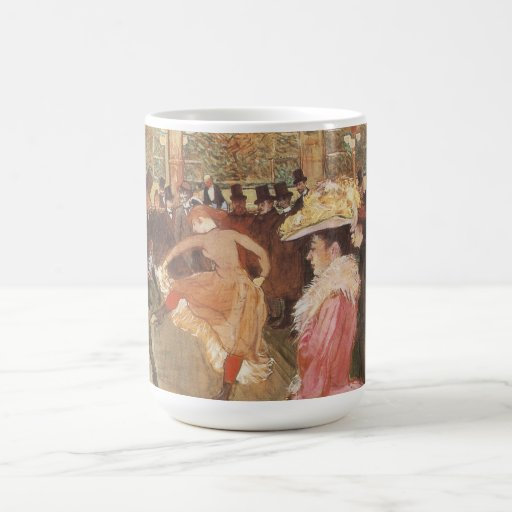 """Ball at the """"Nightclub"""" by Toulouse Lautrec Classic White Coffee Mug"""