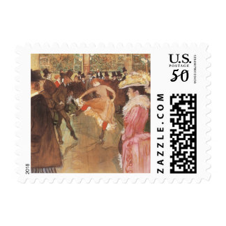 Ball at the Nightclub by Toulouse Lautrec Postage