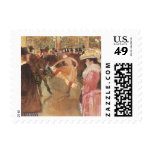 """Ball at the """"Nightclub"""" by Toulouse Lautrec Postage"""