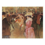"""Ball at the """"Nightclub"""" by Toulouse Lautrec Poster"""