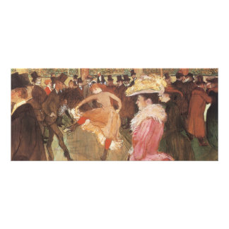 Ball at the Nightclub by Toulouse Lautrec Rack Card