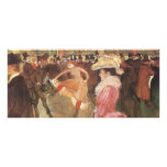"""Ball at the """"Nightclub"""" by Toulouse Lautrec Full Color Rack Card"""