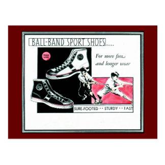Ball Band Sport Shoes from Mishawaka, Indiana Postcard