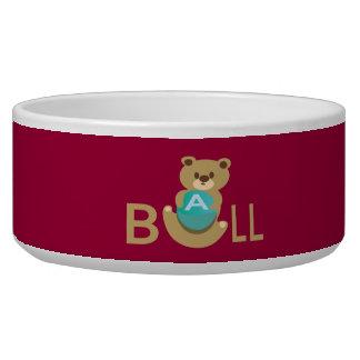 Ball bear dog food bowl