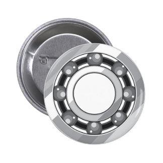 Ball bearing pinback button