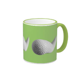 Ball bouncing ringer coffee mug