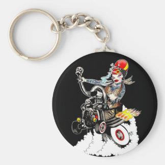 Ball Breaker Betty Basic Round Button Keychain