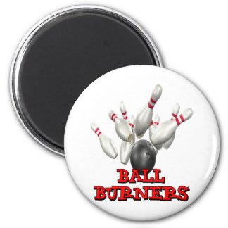 Ball Burners Bowling Refrigerator Magnets