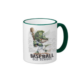 Ball Busta Dinosaur Baseball By Mudge Studios Ringer Mug