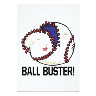 "Ball Buster 5"" X 7"" Invitation Card"