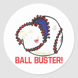 Ball Buster Classic Round Sticker