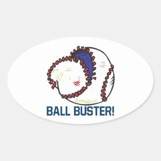 Ball Buster Oval Sticker