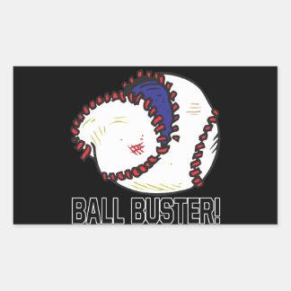 Ball Buster Rectangular Sticker