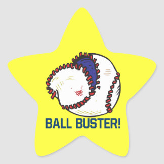 Ball Buster Star Sticker