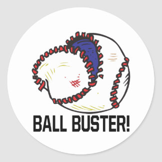 Ball Buster Round Stickers