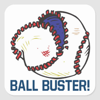 Ball Buster Square Sticker