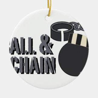 Ball & Chain Ceramic Ornament