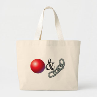 Ball & Chain Large Tote Bag