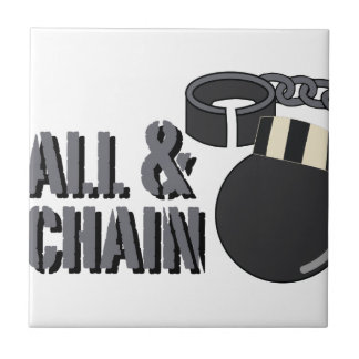 Ball & Chain Small Square Tile