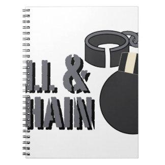 Ball & Chain Spiral Notebook
