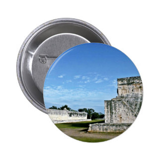 Ball Court And Temple Of The Jaguars, Chichen Itza Pinback Button
