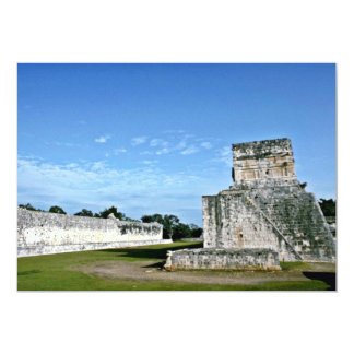 """Ball Court And Temple Of The Jaguars, Chichen Itza 5"""" X 7"""" Invitation Card"""