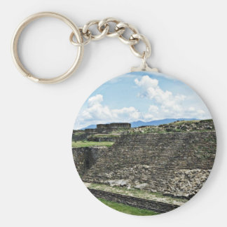Ball Court From Archeological Zone Of Monte Alban Basic Round Button Keychain