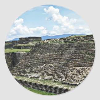Ball Court From Archeological Zone Of Monte Alban Round Sticker